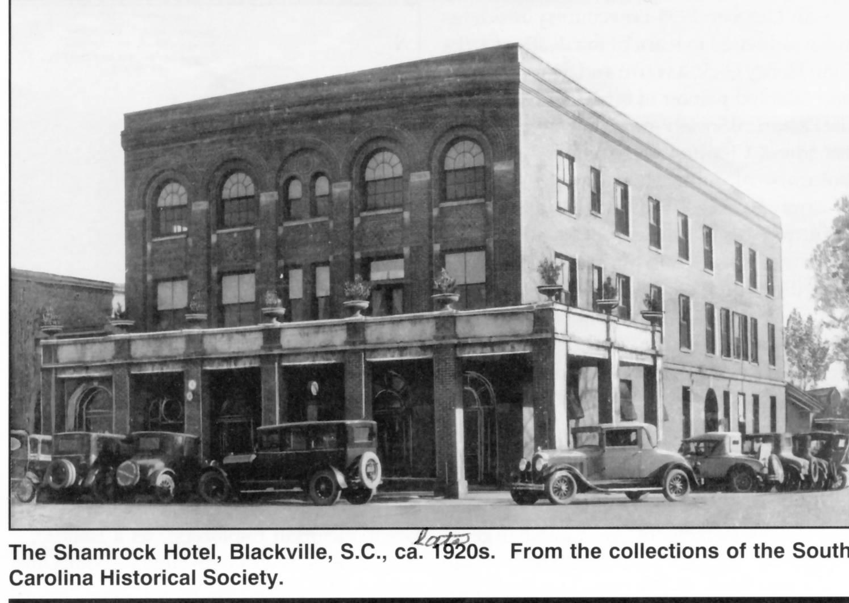 Uncategorized Shamrock History the shamrock hotel blackville south carolina